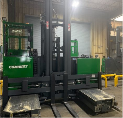 Combilift truck powered by a OneCharge CUSTOM Series lithium battery